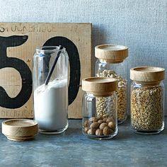 Wood + Glass Storage Jars #WestElm