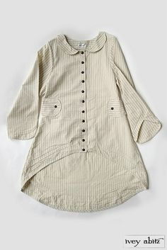 Solomon Jacket in Barley Field and Cobblestone Path Washed Striped Cotton s664 - Vintage Inspired Clothing for Women - Ivey Abitz