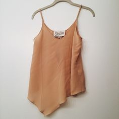 NWT Rory Beca Assymetrical Silk Cami NWT purchased from revolve clothing. Light pink silk Cami with adjustable straps. Rory Beca Tops