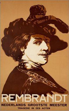 "MP883. ""Rembrandt"" Dutch Movie Poster by Joop Van Den Berg (Alexander Korda 1936) / #Movieposter"