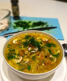 Like chicken noodle soup but with no chicken or noodles.. Skipped the dill and parsley, added rosemary