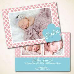 Geburtskarten für Mädchen