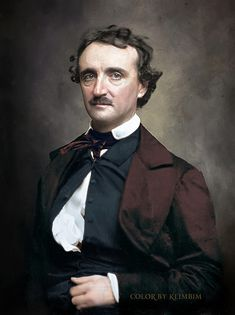 Edgar Allan Poe- photo colorized by Klimbim Edgar Allan Poe, Allen Poe, Writers And Poets, American Literature, Book Writer, Portraits, Cinema, People, Poetry Quotes
