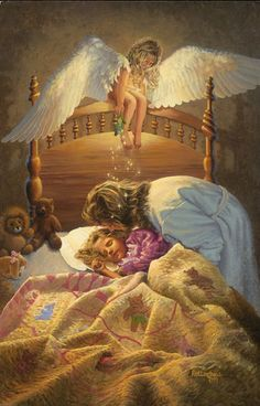 The Kissing Angel Fine-Art Print by David Rottinghaus at UrbanLoftArt.com