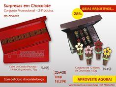Já provou o nosso Chocolate Belga em forma de Flor? Aproveita agora as nossas promoções. http://www.mysweets4u.com/pt/?o=1,5,202,49,3,0