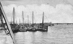 Algarve , Cais de Portimão no inicio do Séc.XX