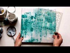 ▶ Background for mixed-media canvas by Tetiana Komarova (Taniko) - YouTube