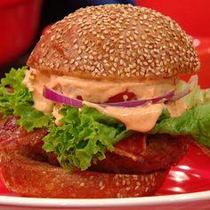 BLT Burgers with Sriracha Aioli