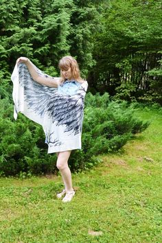 Product description for cotton scarfs Scarf size - cm x cm material - cotton colors white and black Growth of the model on the photo m ' please note if White Angel Wings, Cotton Plant, Unique Gifts For Her, Cotton Scarf, Bird Feathers, Scarf Styles, Womens Scarves, Scarfs, Different Styles