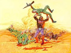 Robert Tanenbaum poster art for Battle for the Planet of...