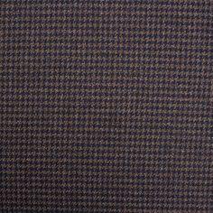 Designer Taupe/Navy 'Dream' Wool Tweed (£119.90/metre)   Joel & Son Fabrics
