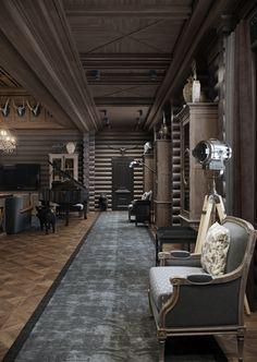 """""""Блог о компьютерной графике"""" """"Блог о интерьерной визуализации"""" """"Блог о дизайне"""" Cabin Homes, Log Homes, Best Interior, Luxury Interior, Gun Rooms, Rustic Home Design, Lodge Style, Home Decor Furniture, Ceiling Design"""