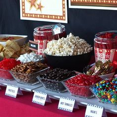 Popcorn and Candy Bar