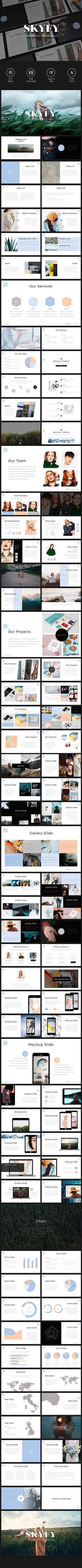 SKYFY PowerPoint Template (PowerPoint Templates)