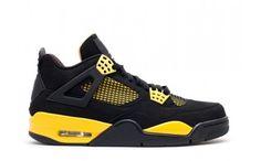 authentic air jordan 4 mens retro basketball shoes thunder 2012