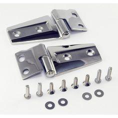 Hood Hinge Kit, Stainless Steel; 07-17 Jeep Wrangler JK