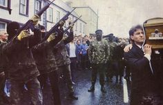 Provisional IRA funeral in Northern Ireland, 1980's.