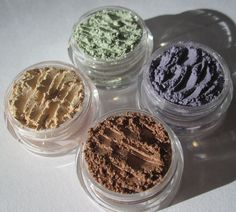 Vegan Mineral Eye Shadow Sample Collection in brown purple by kmms
