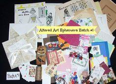 "Altered Art Ephemera, Scrapbook, ""Ephemera Art Supply, Batch #1"" Collage Art Supply, Vintage & New Ephemera, 150+ Pieces - pinned by pin4etsy.com"