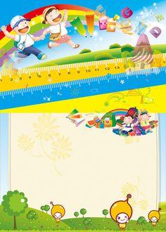 Diseño Arte Floral Frame Antecedentes Poster Background Design, Kids Background, Preschool Classroom, Preschool Activities, Doll House Flooring, School Enrollment, School Brochure, School Frame, Celebration Background