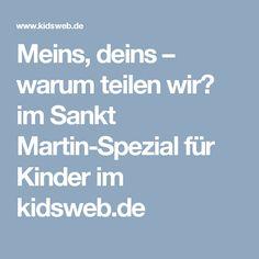 Meins, deins – warum teilen wir? im Sankt Martin-Spezial für Kinder im kidsweb.de