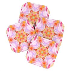 Rosie Brown Kaleidoscope Coaster Set | DENY Designs Home Accessories