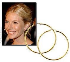 "2-2.5"" Gold hoop with sterling silver or gold ear wire"