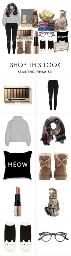 """Fall Chill Day"" by sammi-mo ❤ liked on Polyvore featuring Max Factor, River Island, Iris & Ink, TravelSmith, UGG, Bobbi Brown Cosmetics, Forever 21, Moscot and Jaipur"
