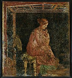 Sitting woman from Pompeii
