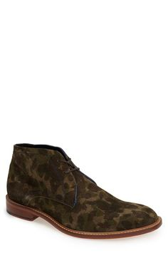 Men's Ted Baker London 'Thylaar' Camo Suede Chukka