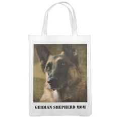 German Shepherd Reusable Grocery Bag