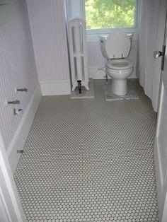 My Bathroom In 1925 Center Hallway Colonial Revival Was Horrifically Unattractive At Some Bungalow Bathroomhex Tilebath