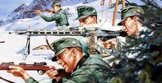 Gebirgsjäger en Narvik - pin by Paolo Marzioli Narvik, The Third Reich, Korean War, German Army, Vietnam War, Troops, Soldiers, World War Ii, 2 In