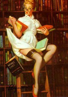 Librarian pin-up
