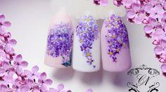 ♥Простейший дизайн ногтей ♥Рисуем сирень♥