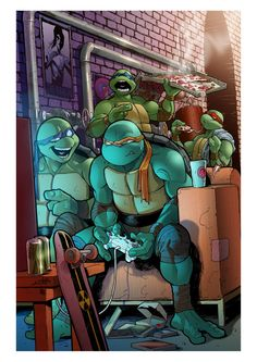 TMNT n.13 - Variant Cover by Claudia-SG.deviantart.com on @deviantART
