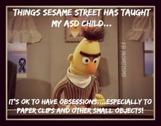 ASD and obsession to small objects