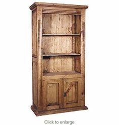 Mexican Pine Bookshelf 2 Doors