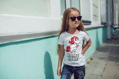 Personalized blondie unicorn t-shirt girls t-shirt tee top shirt unicorn t-shirt great gift present idea for kids children t-shirt by funkytshirtsfactory on Etsy Shirts & Tops, Chubby, Strong Girls, Girl Humor, Cool Tees, Shirts For Girls, Etsy, Kids, Children