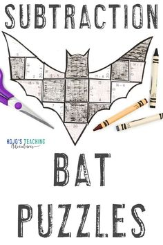 Make learning about bats fun with these SUBTRACTION bat activities for kids. Click through to make these a part of your math centers, stations, review, enrichment, or early Bat Activities For Kids, Halloween Activities, Math For Kids, Fun Math, Math Activities, Practice Math Problems, 3rd Grade Classroom, Math Classroom, Halloween Math