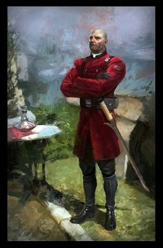 The Isometry of High Overseer Thaddeus Campbell. Dishonored painting