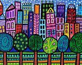 Modern cross stitch kit 'NYC' by Heather Galler