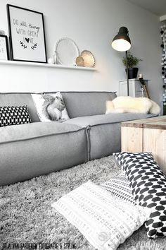 Scandinavisch interieur van blogger Arja van 'Ons huisje op negen hoog' #scandinavian