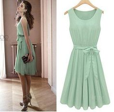 Mint Chiffon Dress, $18.99
