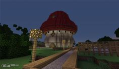 Red Mushroom House - Worth1000 Contests