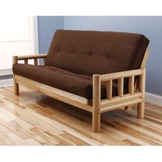 Lodge Suede Futon and Mattress Upholstery: Chocolate - http://delanico.com/futons/lodge-suede-futon-and-mattress-upholstery-chocolate-589264153/