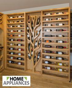 En Home Appliances hacemos realidad tus sueños. Transformamos la madera en proyectos de cocina, closet, baños, bibliotecas, cavas de vino, entre otros.     #home #homeappliances #cocinas #diseño #kitchen #desing #electrodomesticos #descuentos #aniversario #cavas #madera #muebles #closets #baños #renueva #hogar #casa #cortinas #cava #vinos Wine Rack, Home Appliances, Cabinet, Storage, Furniture, Home Decor, Home, Kitchen Pictures, Libraries