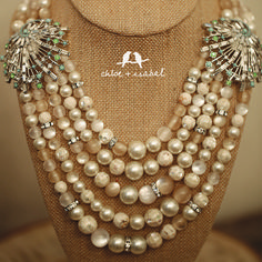 Pretty new #pearl #statement #necklaces for all the Audrey Hepburn, Carrie Bradshaw, and Jackie Os of the world!
