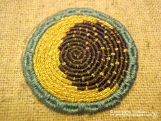 &Stitches: Tutorial: Or Nue [how to stitch Or Nue embroidery]