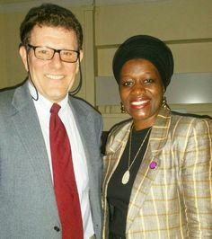Tausi Suedi with Nicholas Kristof co-author of Half the Sky.